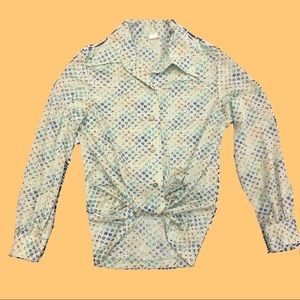 Funky 70's Collared Button Down